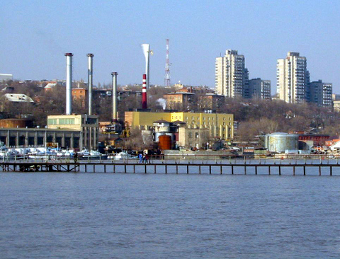 Big view on rostov on don over don river